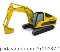 Modern excavator illustration 26414872