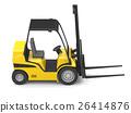 Modern yellow forklift 26414876