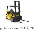Modern yellow forklift 26414878