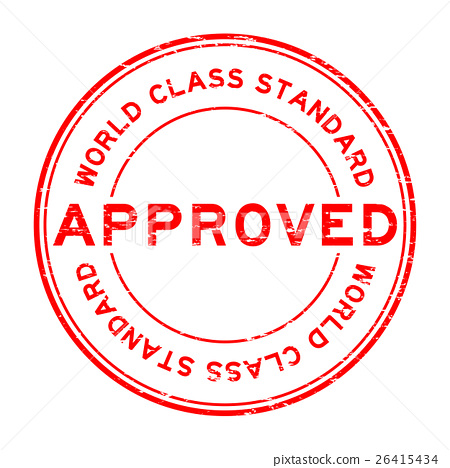 Grunge approved world class standard rubber stamp 26415434