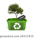 Tree in green basket 26415915