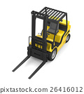 Yellow forklift 26416012