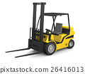 Yellow forklift 26416013
