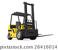 Yellow forklift 26416014