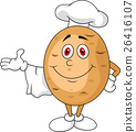 Cute potato chef cartoon character 26416107