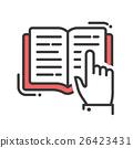Education flat design single isolated icon 26423431