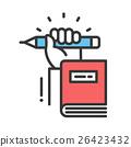 Education flat design single isolated icon 26423432