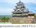 Beautiful Matsumoto castle in Japan in spring  26427311