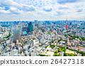 View from above on Tokyo Tower with skyline in 26427318