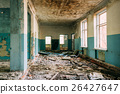 Ruined Hall Of Abandoned School After Chernobyl 26427647