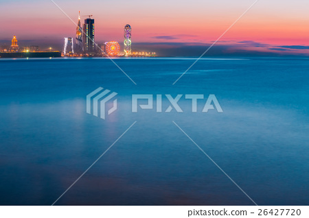 Sea And Modern Urban Architecture Skyscrapers 26427720