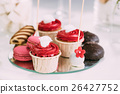 Dessert Sweet Tasty Cupcakes, Macarons And Cookies 26427752