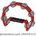 Classic red tambourine 26430113