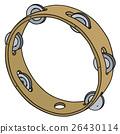 Classic wooden tambourine 26430114