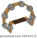 Classic wooden tambourine 26430115