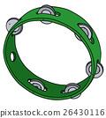 Green plastic tambourine 26430116