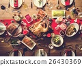 Christmas Family Dinner Table Concept 26430369