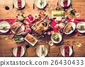 Christmas Family Dinner Table Concept 26430433