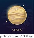 The planet Venus, vector illustration 26431962