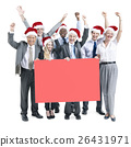 Business People Celebration Banner Copy Space Christmas Concept 26431971