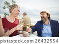 Mature Friends Fine Dining Outdoors Concept 26432554