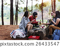 Friends Camping Playing Cards Concept 26433547