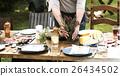 Woman Preparing Table Dinner Concept 26434502
