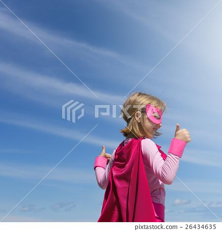 Little Girl Super Hero Concept 26434635