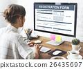 Registration Form Application Information Concept 26435697