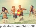 ball, beach, summer 26436281