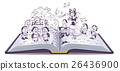 Open book illustration. Fairy tale Snow White and 26436900