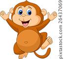 การ์ตูน,ลิง,น่ารัก 26437069