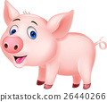 Cute baby pig cartoon 26440266