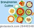scandinavian, cuisine, vector 26440348