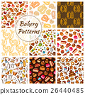 Bakery and pastry seamless pattern background 26440485
