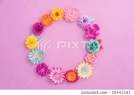 Stock Photo: Paper flower wreath