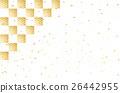 金葉 打鉤 棋盤狀圖案 26442955