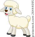 Cute sheep cartoon 26444095