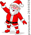 Happy Santa cartoon waving hand 26444929