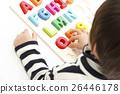 男孩學習英語字母知識教育 26446178