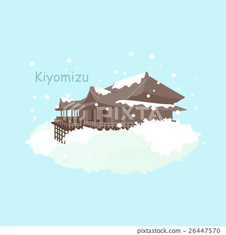 Japan Kiyomizu snow in winter 26447570
