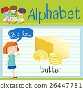 Flashcard letter B is for butter 26447781