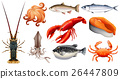 Different types of seafood 26447809