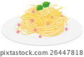Spaghetti with cream sauce 26447818