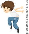 Little boy doing breakdancing alone 26447856