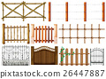 Different designs of fence 26447887