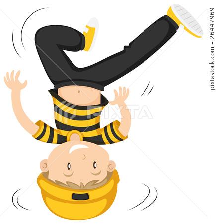 Little boy doing head spin 26447969