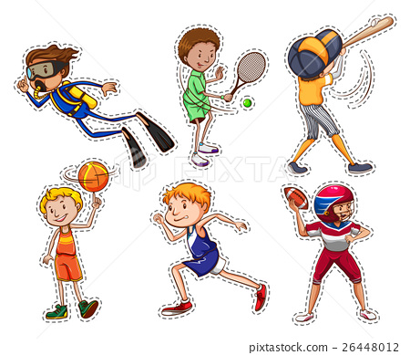 Set of people doing different sports 26448012