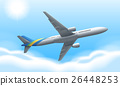 Airplane flying in the sky 26448253