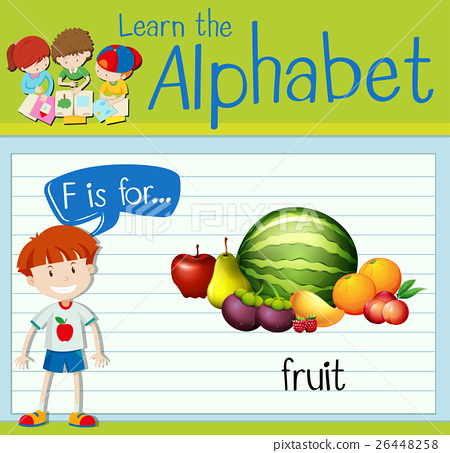 Flashcard letter F is for fruit 26448258